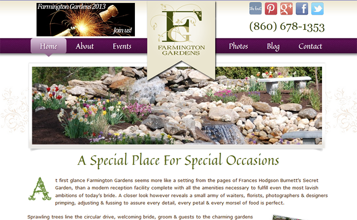 Farmington Gardens Web Design