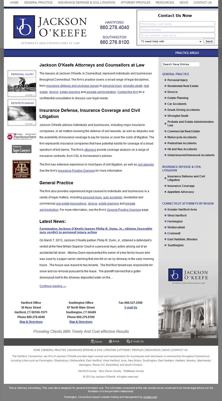 Jackson O'Keefe homepage