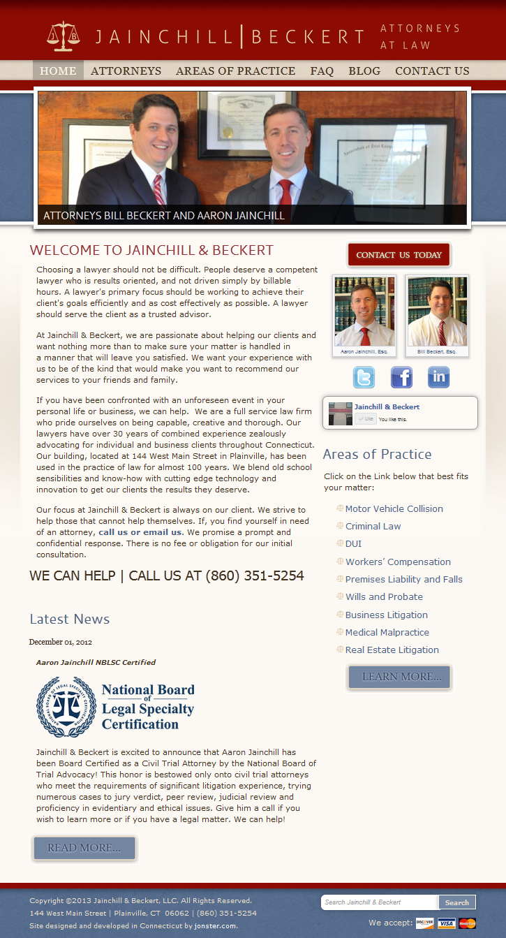 The Jainchill & Beckert Homepage
