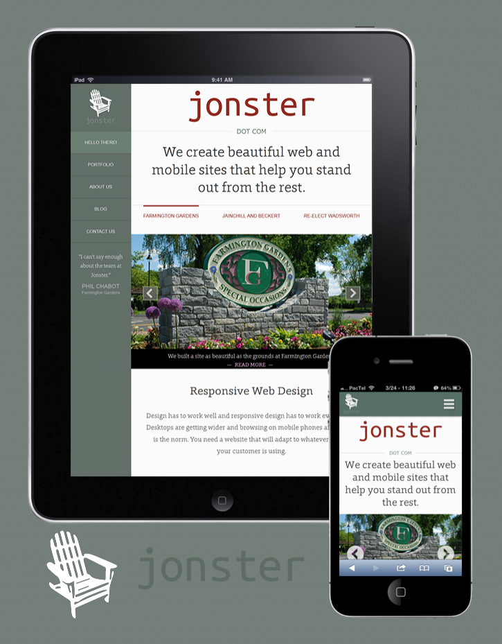 The Jonster.com Homepage - Responsive Design