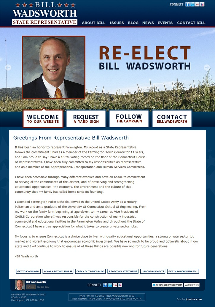 The Re-Elect Wadsworth 2012 Homepage